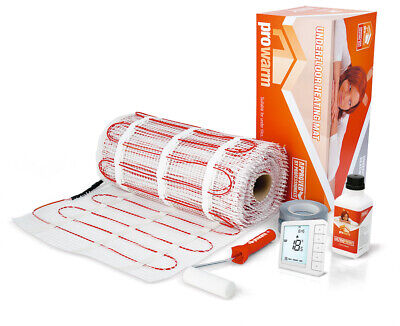 ProWarm Electric Underfloor Heating Mat Kit 150w Per M² With Free Remote Upgrade