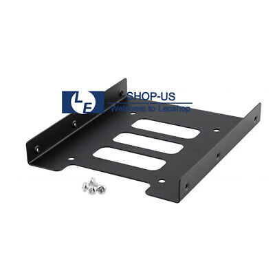 """New Black 2.5"""" SSD to 3.5"""" Bay Hard Drive HDD Mounting Dock Tray Bracket Adapter"""