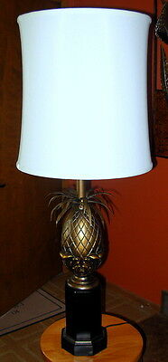 Large Black/Bronze Pineapple Table Lamp