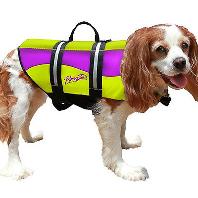 Pawz Pet Dog Life Jacket for Dogs Pet Preserver Reflective Neoprene Safety Vest