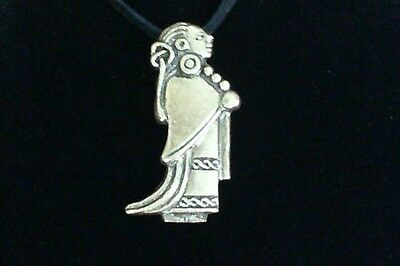Valkyrie Pewter Pendant Leather Necklace! New Viking Odin Thor Norse Pagan