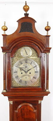 Thos Gardner London Mahogany Longcase Grandfather Tall Case Clock C. 1770