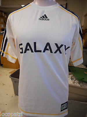 adidas MLS Los Angeles Galaxy Kids/Youth Soccer Football Climalite Jersey NWT XS