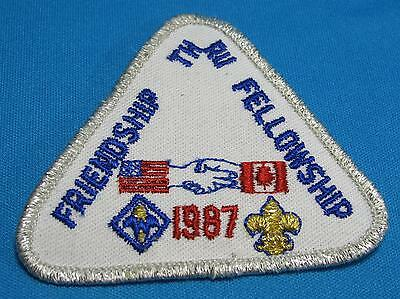 Boy Scouts America BSA Friendship Fellowship US Canada 1987 Embroidered Patch