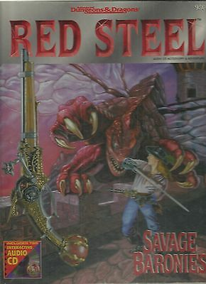 Dungeons & Dragons RED STEEL SAVAGE BARONIES in BOX no CD in inglese - C05
