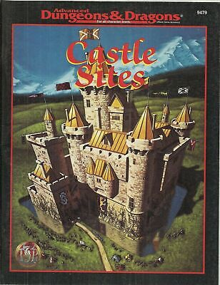Dungeons & Dragons CASTLE SITES 9479 manuale in americano