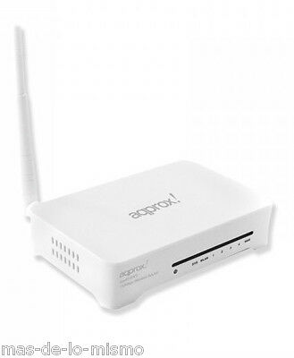 Router Inalambrico aPprox APPR150V3 Punto de Acceso y Repetidor WiFi N 150Mbps