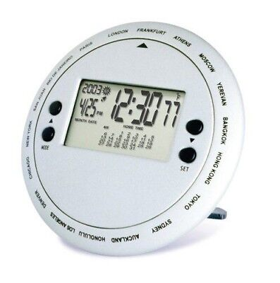 Bedol Hand Held All-World Timepiece: 18 time zones/Silver, Clock
