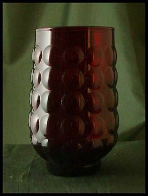 "Anchor Hocking ROYAL RUBY Provincial ""Bubble"" Juice Glass"