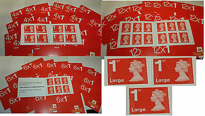 BRAND NEW  UK self stick Postage Stamps, 1st & 2nd class & large letter