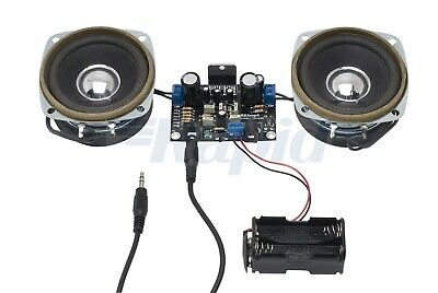 Stereo Amplifier Kit 10W + 10W With or Without Speakers Self Solder Project Kit