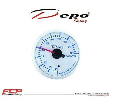 DEPO RACING DIGITAL BATERIESPANNUNG ANZEIGE / BATERY VOLTAGE GAUGE WBL5291W 52mm