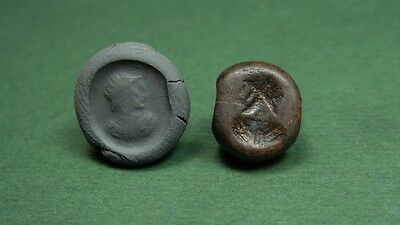 SASSANIAN ENGRAVED BEAD MALE BUST PORTRAIT IMAGE 4th CENTURY AD