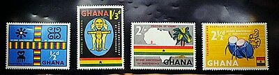 Ghana Stamps # 42 - 45 MINT MNH 1959 The 2nd Anniversary of Independence (map)