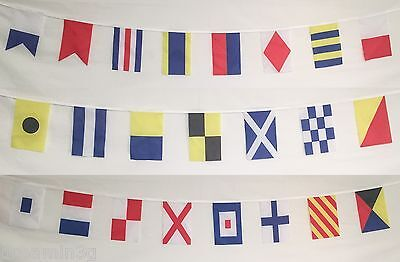 Naval Signal Flags / Flag SET - Total of 26 Flags - Marine/Maritime Code 24 Feet