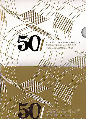 2015 RAM Uncirculated (UNC) 6 Coin Mint Set - 50th anniversary