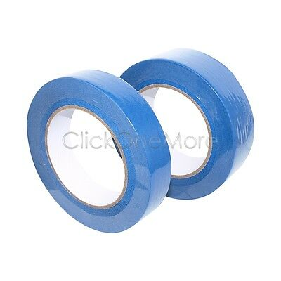 MX - New 2 x 50m UV Resistant Painters Painting Blue Masking Tape 24mm /36mm OZ