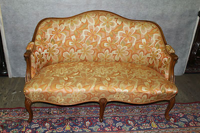 French Louis XV Walnut Loveseat Circa 1920s'
