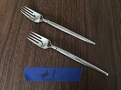 SRI Stanley Roberts Stainless Japan Retro Mid Cen Modern Astro 2 Forks AS IS