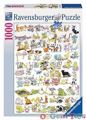 101 Cats and 1 Mouse Ravensburger Jigsaw Puzzle 1000 Piece