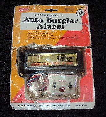 70s 80s Vintage Period Accessory NOS Car Auto Burglar Alarm 6 and 12 Volt