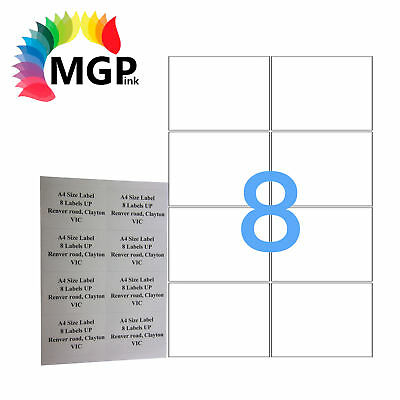 100 Sheets 8 Labels Per Page 800 Labels 99.1×67.7mm A4 Office Mailing Labels