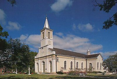 St. Martin of Tours Church, St. Martinville, Louisiana, Catholic, LA -- Postcard