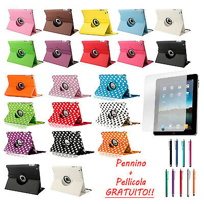 Custodia Per Apple iPad 2 3 4 GEN 360° + Pennino + Pellicola + Cover Case Pelle