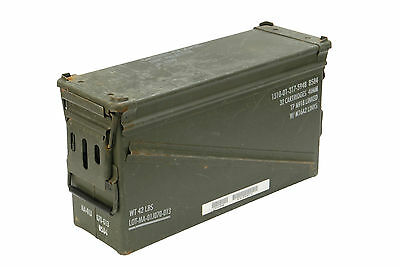 US Army Olive Large Metal Ammo Box Used Military Surplus Size 5