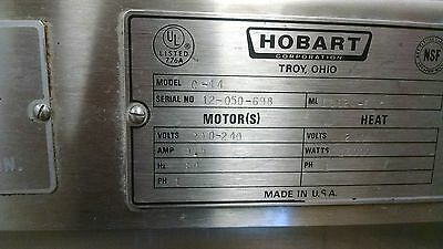 hobart industrial dish washer with hood and fan