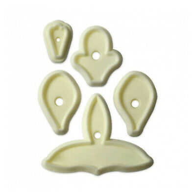JEM Set of 5 SINGAPORE ORCHID Flower Icing Cut Out Cutters Sugarcraft Cake Decor