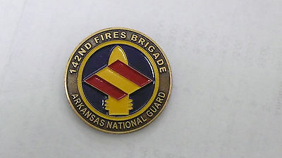 Us Army Challenge Coin 142Nd Fires Brigade Arkansas National Guard