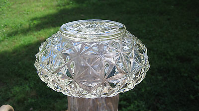 Vintage Mid Century Glass Center Hole Light Fixture Replacement Shade / Globe