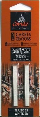 Conte Carres Crayon 2 pack White