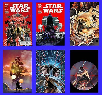 Star Wars #1 C 2 C 3 4 5 6 Aaron Lot Set 2015 New Marvel Now Movie Boba Fett