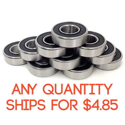 """(10 Pieces) KML 1615-2RS 7/16"""" x 1-1/8"""" x 3/8"""" Double Sealed Ball Bearing"""