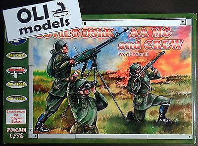 1/72 WWII Soviet DShK AA MG (x3) and Crew FIGURES SET - Orion 72038
