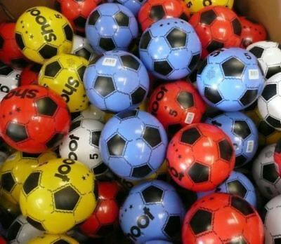 """120 Plastic Footballs 8"""" Flat Packed Un-Inflated"""