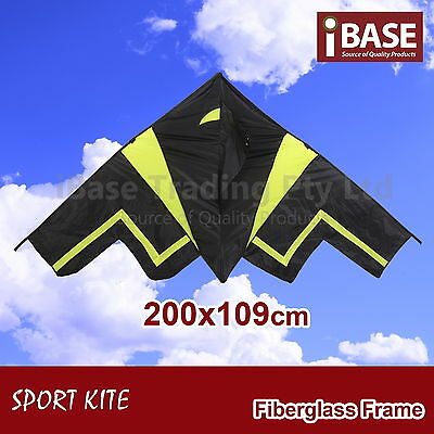 Kite Ripstop Outdoor Sport Stealth Bomber Airplane Toy Gift Idea Fun Control