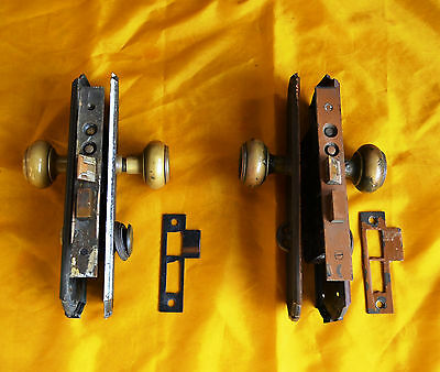 Reclaimed Antique Brass Mortise Locksets. (2) Matching. Yale.  Nice!