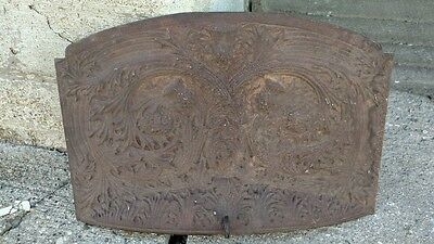 Reclaimed Early Cast Iron Wall Art or Fireplace Insert is Decorative and Signed