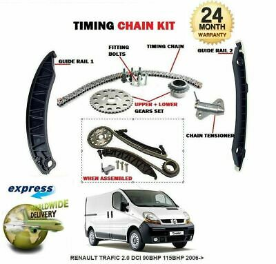 For Renault Trafic 2.0 Dci 90Bhp 115Bhp 2006-> Timing Cam Chain Kit With Gears
