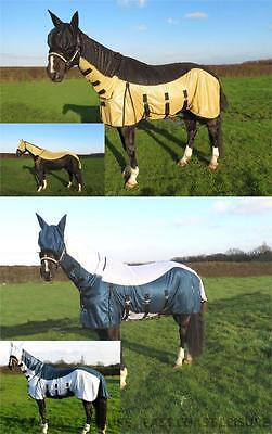 Horse Fly Rug Combo Free Fly Mask Large Belly Strap Pony Cob & Full