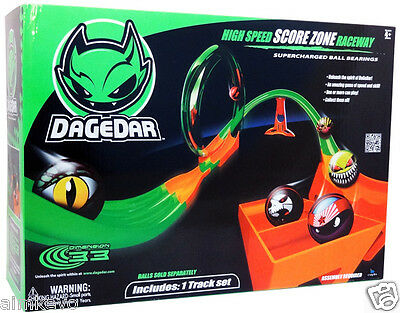 DaGeDar Supercharged Ball Bearing Toy Track Set High Speed Score Zone Raceway