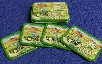 Set of Four(4) John Deere Coasters