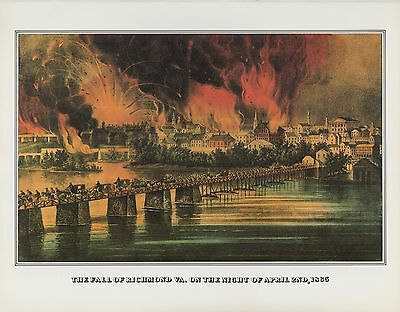 "1978 Vintage /""BOMBARDMENT OF FORT SUMTER 1861/"" CURRIER /& IVES COLOR Lithograph"