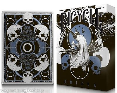 Anicca Deck Metallic Blue Deck Bicycle Playing Cards Poker Size USPCC Limited Ed