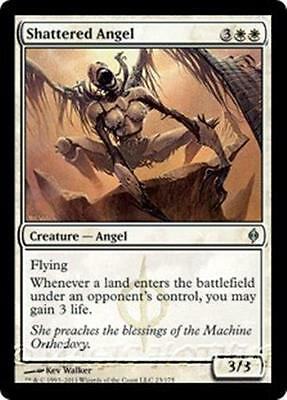 SHATTERED ANGEL New Phyrexia MTG White Creature — Angel Unc
