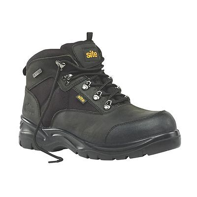 NEW Site Onyx Safety Boots Black Size 9
