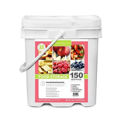 Lindon Farms 150 Servings Freeze-Dried Mixed Fruit Bucket Emergency Camping